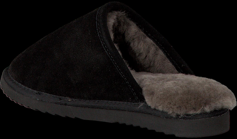 Pantoufles Noir Warmbat Classique En Daim Unisexe vWaWdbOMo