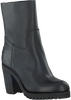 Zwarte SHABBIES Enkellaarsjes 228127  - small
