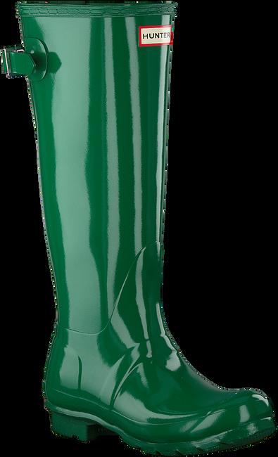Groene HUNTER Regenlaarzen BACK ADJUSTABLE GLOSS - large