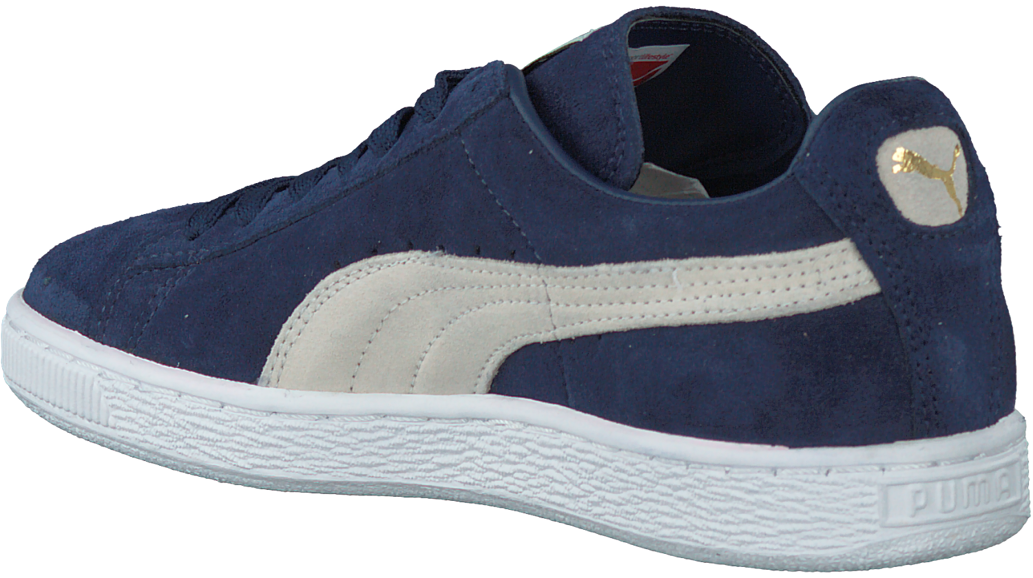 Blauwe Puma Sneakers Suede Classic Dames