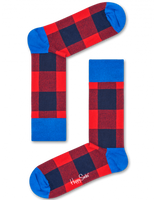 Rode HAPPY SOCKS Sokken LUMBERJACK - medium