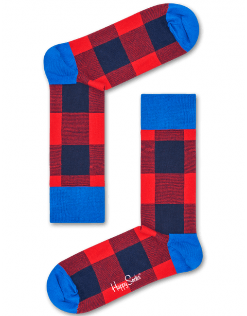 Rode HAPPY SOCKS Sokken LUMBERJACK - large