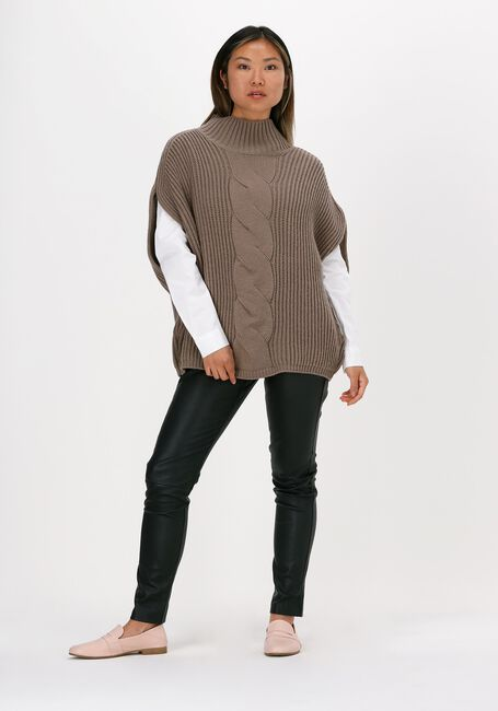 Beige SUMMUM Spencer SLEEVELESS CABLE SWEATER WOOL  - large