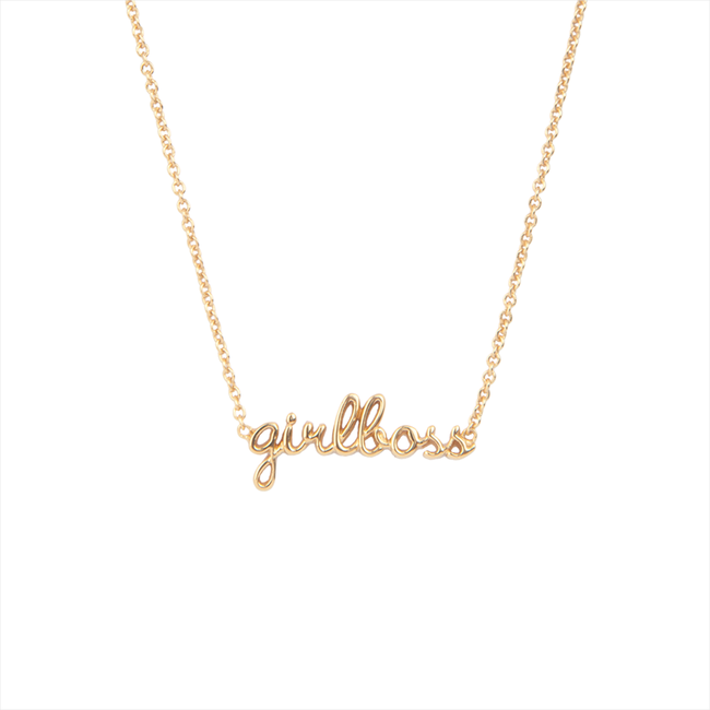 Gouden ALLTHELUCKINTHEWORLD Ketting URBAN NECKLACE GIRLBOSS - large