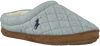 Grijze POLO RALPH LAUREN Pantoffels WOMENS'S JACQUE QUILT SCUFF  - small