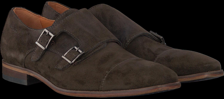 Chaussures Treuil Brun Avec Boucle Pour Les Hommes gAmS0C0