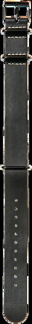 Zwarte TIMEX Horlogebandje LEATHER 20MM - large