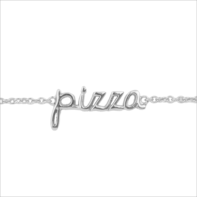 Zilveren ALLTHELUCKINTHEWORLD Armband URBAN BRACELET PIZZA - large