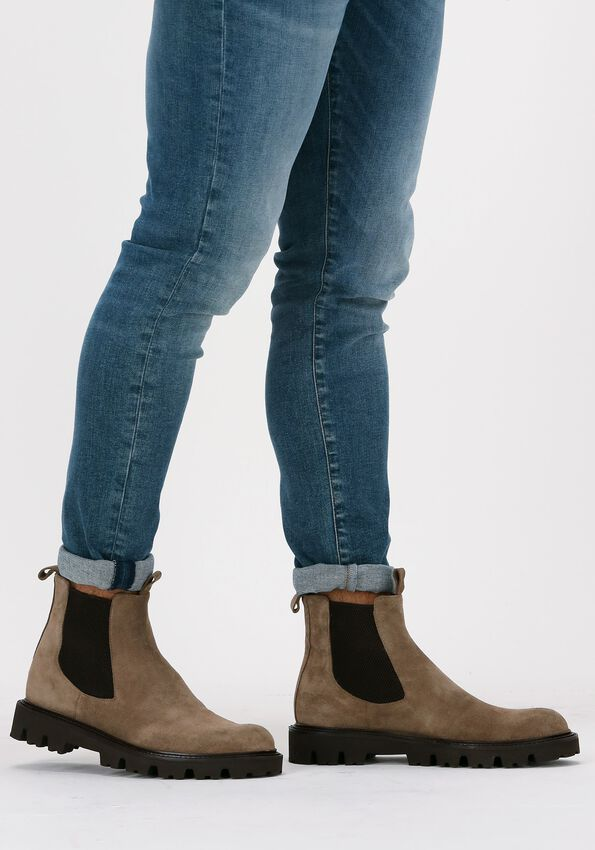 Taupe MAZZELTOV Chelsea boots 4275  - larger