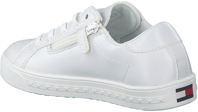 Witte TOMMY HILFIGER Sneakers LOW CUT LACE UP SNEAKER  - large