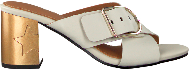 Witte TOMMY HILFIGER Slippers MID HEEL MULE OVERSIZED BUCKLE - large