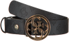 Zwarte GUESS Riem PEONY CLASSIC ADJ PANT BELT  - small