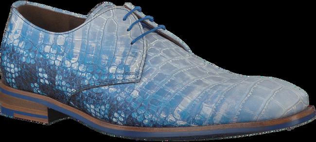 Blauwe FLORIS VAN BOMMEL Nette schoenen 18015  - large