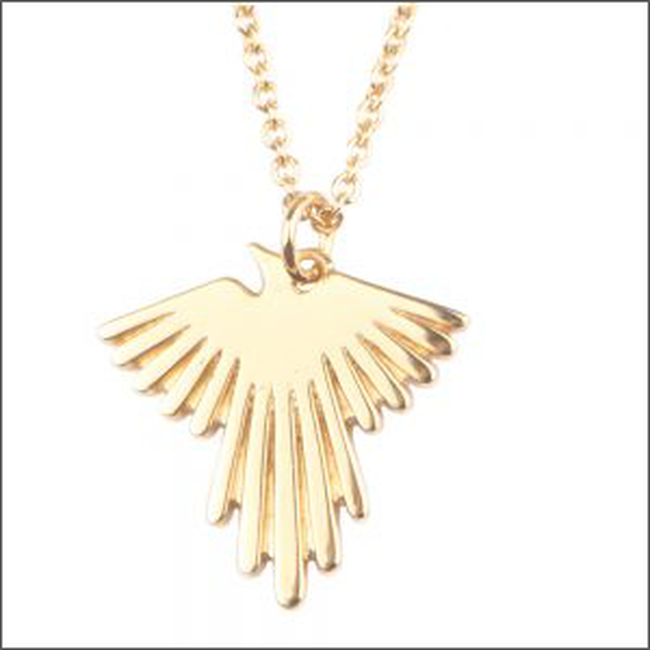 Gouden ALLTHELUCKINTHEWORLD Ketting SOUVENIR NECKLACE EAGLE - large