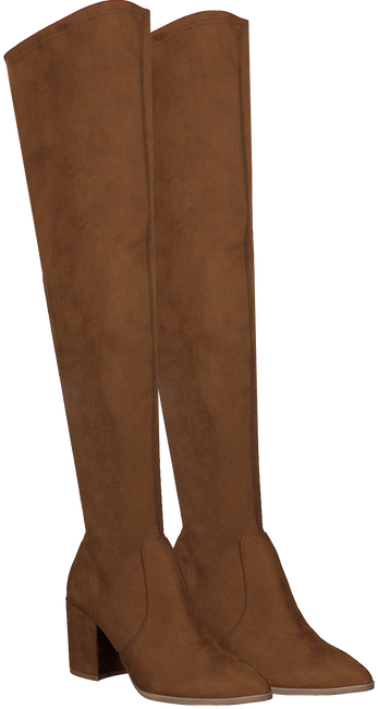 Cognac STEVE MADDEN Overknee laarzen JANEY  - large