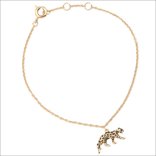 Gouden ALLTHELUCKINTHEWORLD Armband SOUVENIR BRACELET LEOPARD - large