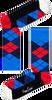 Blauwe HAPPY SOCKS Sokken ARGYLE - small