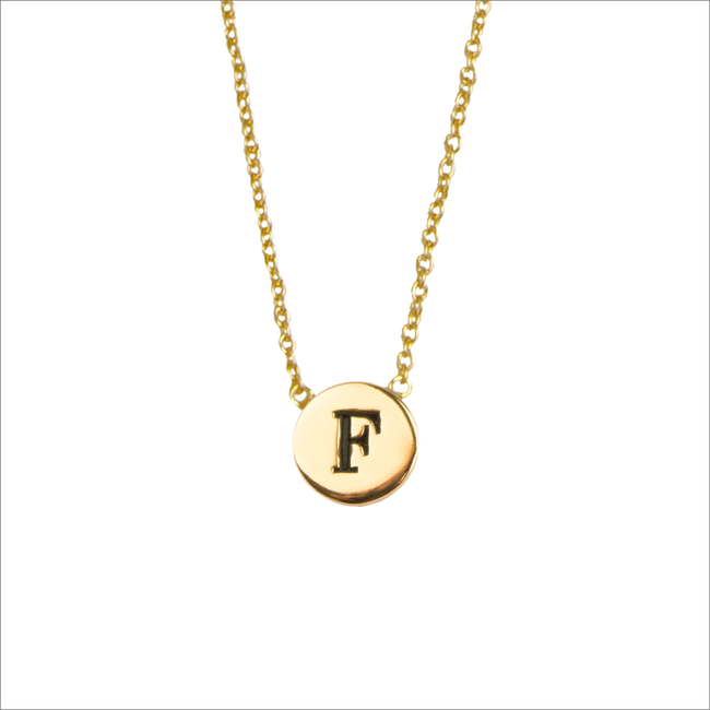Gouden ALLTHELUCKINTHEWORLD Ketting CHARACTER NECKLACE LETTER F - large