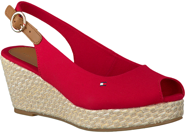 Rode TOMMY HILFIGER Espadrilles ICONIC ELBA BASIC SLING BACK  - large