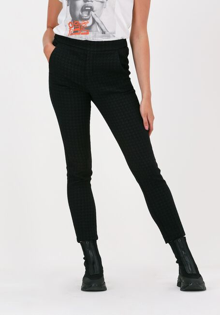 Zwarte ALIX THE LABEL Pantalon HOUNDSTOOTH PANTS - large