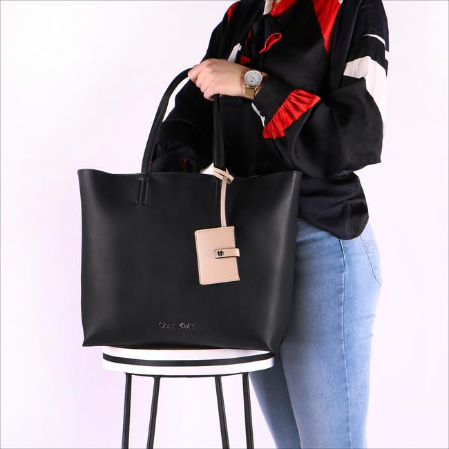 Zwarte CALVIN KLEIN Shopper TACK SHOPPER - large
