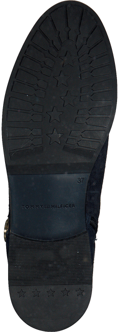 Blauwe TOMMY HILFIGER Enkellaarsjes CHAIN BOOTIE SUEDE - large