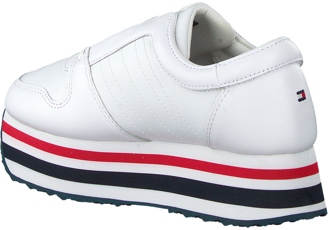 Witte TOMMY HILFIGER Lage sneakers TOMMY CUSTOMIZE FLATFORM  - large
