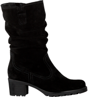 Zwarte GABOR Lange laarzen 802.2 - medium