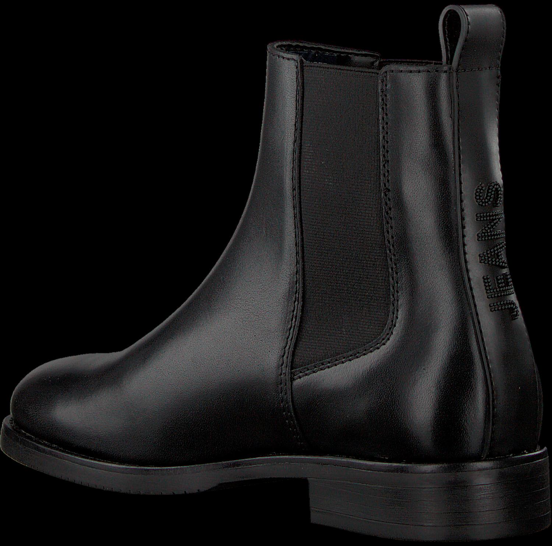 Zwarte TOMMY HILFIGER Chelsea boots PIN LOGO FLAT | Omoda