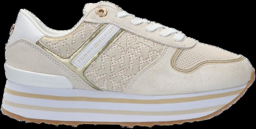Beige TOMMY HILFIGER Lage sneakers TH METALLIC FLATFORM - larger