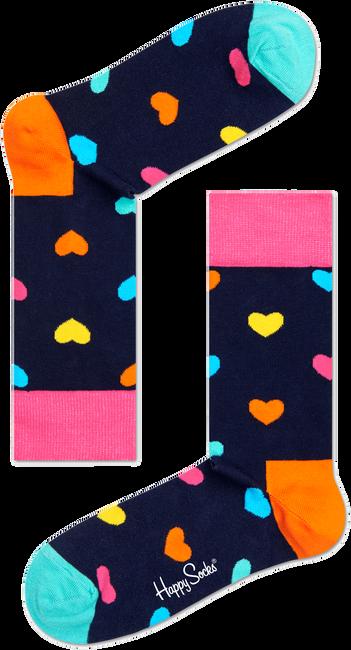 Blauwe HAPPY SOCKS Sokken HEART - large