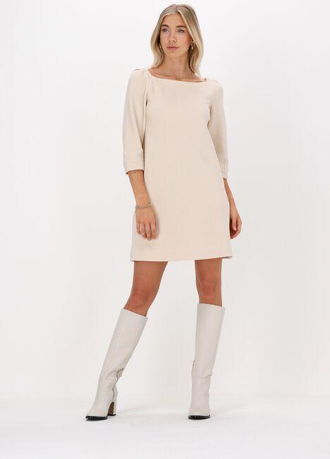 Beige VANILIA Mini jurk STRUC SQUARE  - large