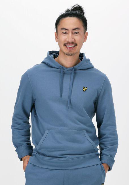 Grijze LYLE & SCOTT Sweater PULLOVER HOODIE - large