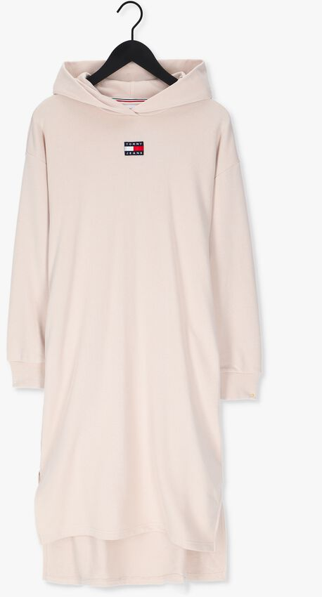 Beige TOMMY JEANS Sweater TJW LONGLINE HOODIE BADGE DRES - larger