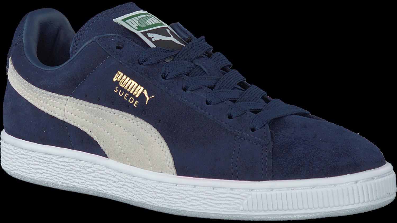 Blauwe PUMA Sneakers SUEDE CLASSIC+ DAMES