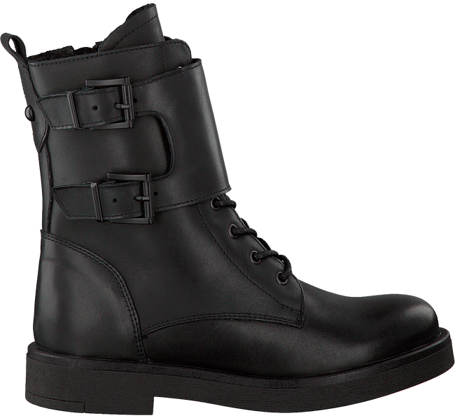 Zwarte PS POELMAN Veterboots 15246  - large