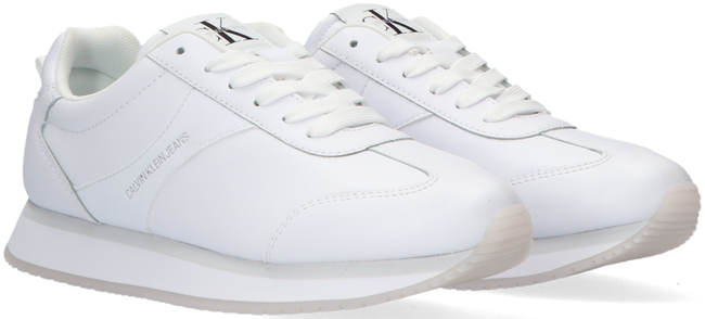 Witte CALVIN KLEIN Lage sneakers RUNNER LACE UP - large