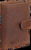 Bruine MAZZELTOV Portemonnee 18294  - small