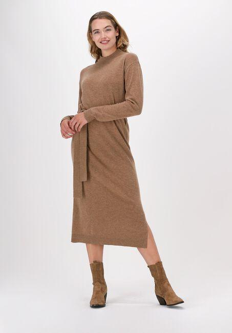 Camel KNIT-TED Midi jurk LINA DRESS  - large