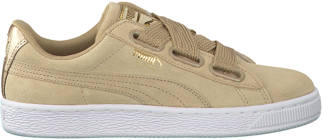 Beige PUMA Sneakers SUEDE HEART SATIN  - large