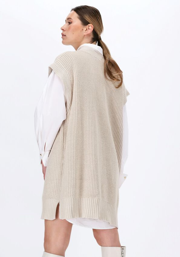 Witte OBJECT Spencer HALSEY KNIT WAISTCOAT  - larger