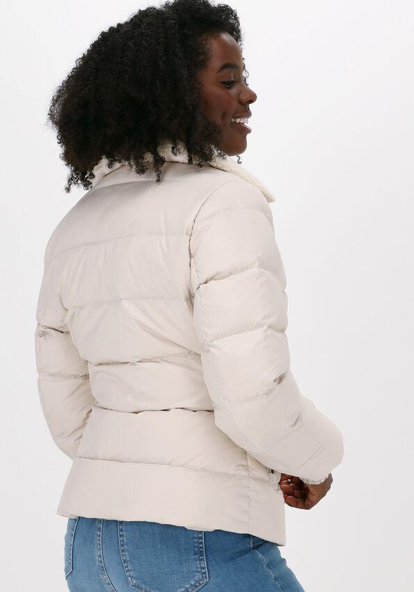 Ecru MOSCOW Gewatteerde jas BIKER  - larger