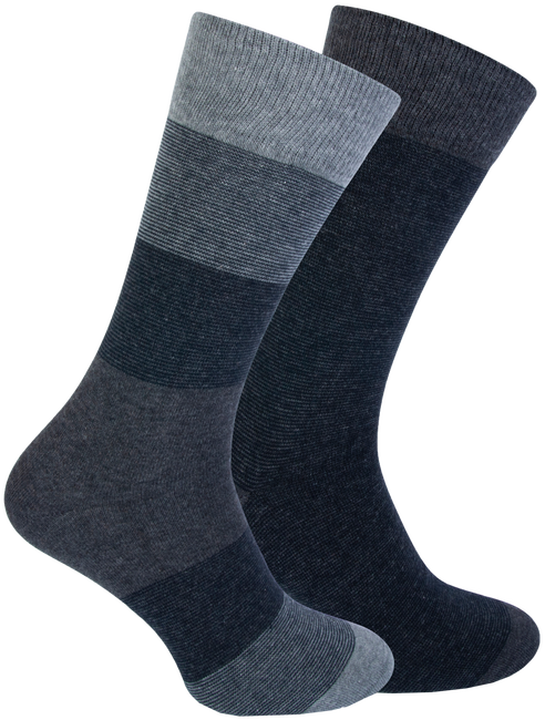 Blauwe MARCMARCS Sokken FERRY COTTON 2-PACK  - large