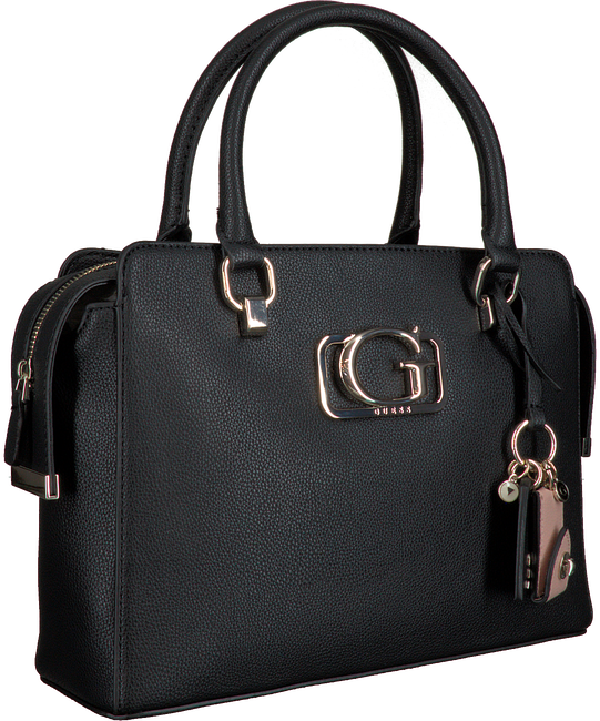Zwarte GUESS Handtas ANNARITA GIRLFRIEND SATCHEL  - large