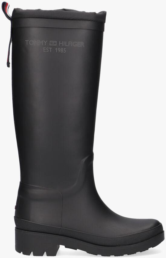 Zwarte TOMMY HILFIGER Regenlaarzen TH OVERKNEE RAINBOOT  - larger