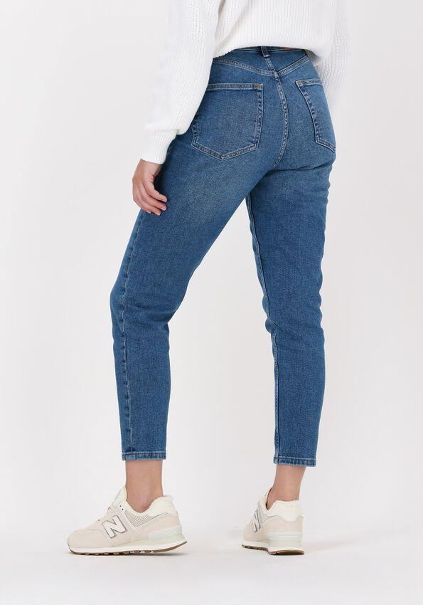Blauwe NA-KD Straight leg jeans COMFORT MOM JEANS  - larger