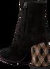 Zwarte LOLA CRUZ Enkellaarsjes BOTIN EN ANTE CON TACON  - small