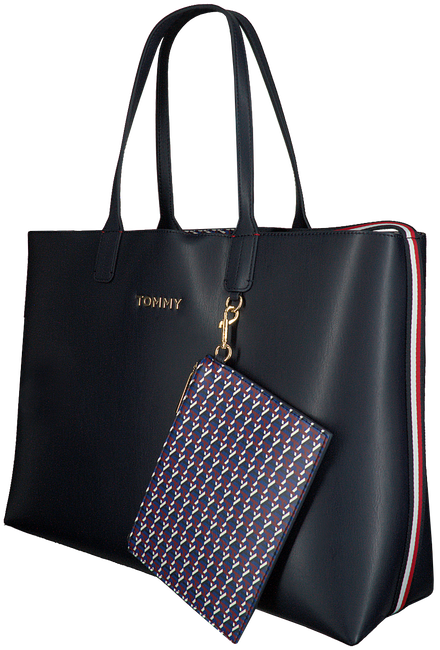 Blauwe TOMMY HILFIGER Shopper ICONIC TOMMY TOTE  - large