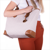 Beige MICHAEL KORS Shopper EVA LG TOTE  - small