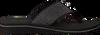 Zwarte TOMMY HILFIGER Slippers ELEVATED METALLIC BEACH SANDAL  - small